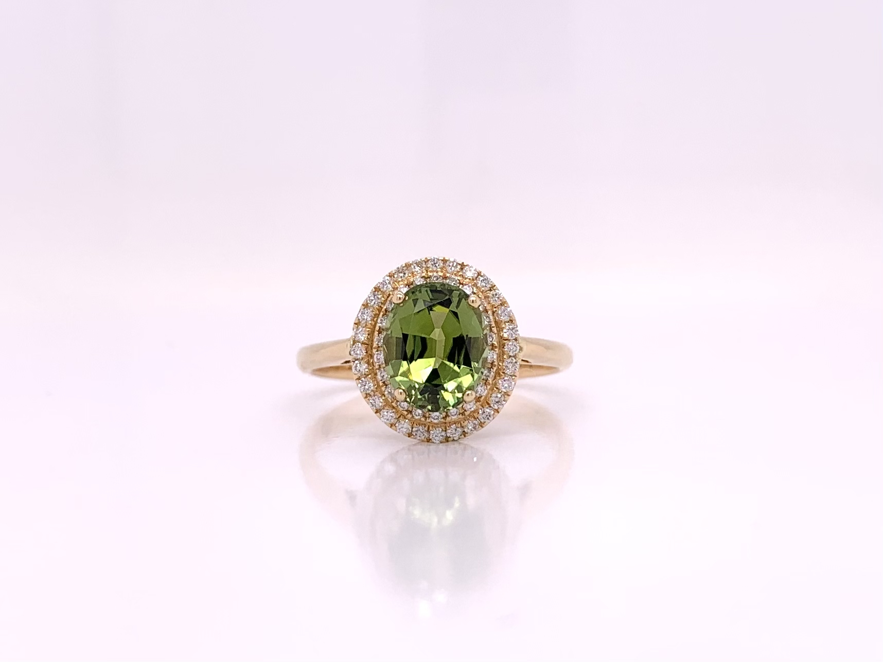 Details about  /0.66 ct Tourmaline Gemstone 0.06 ct Diamond 12x7 MM 14K 18K Solid Gold Earrings